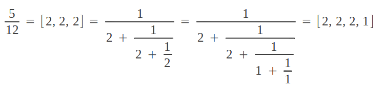 The two alternative representations of a continued fraction