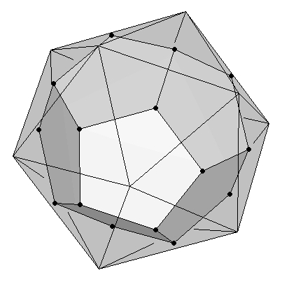 Dodecahedron as dual of an icosahedron