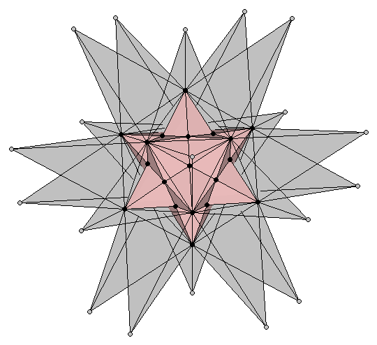 Double pentadodecahedron semitransparent