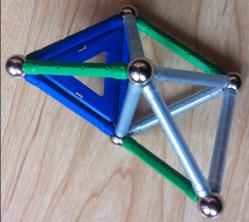 Tetrahedra helix six balls expanded