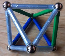 Tetrahedra helix six balls as Octahedron