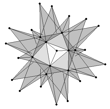 Great Stellated Dodecahedron Semitransparent