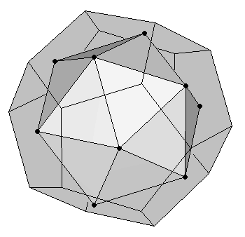 Icosahedron as dual of a dodecahedron